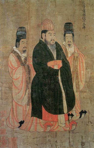 Portrait painting of Emperor Yang of Sui, commissioned in 643 by Taizong, painted by Yan Liben (600–673). (Public Domain)