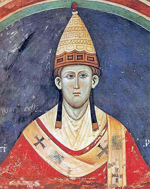 Portrait of Pope Innocent III who liberated Llywelyn and excommunicated King John of England. (Public domain)