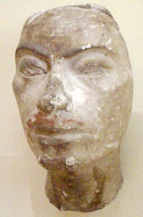 Portrait study thought to be of Ay from the studio of the sculptor Thutmose.