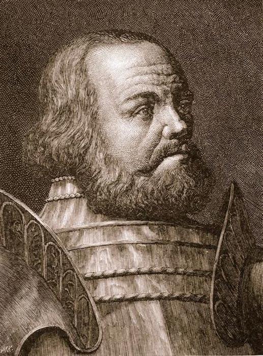 Portrait of Götz von Berlichingen, copper engraving, City Museum of Cologne.