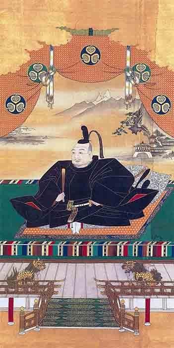 Retrato del shogun Tokugawa Ieyasu de Kanō Tannyū (1602-1674). (