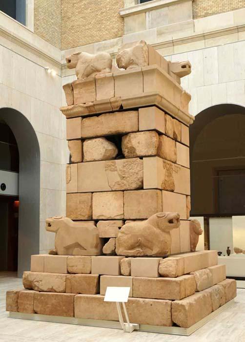 The Pozo Moro Monument in the Museo Arqueológico Nacional, Madrid, Spain.