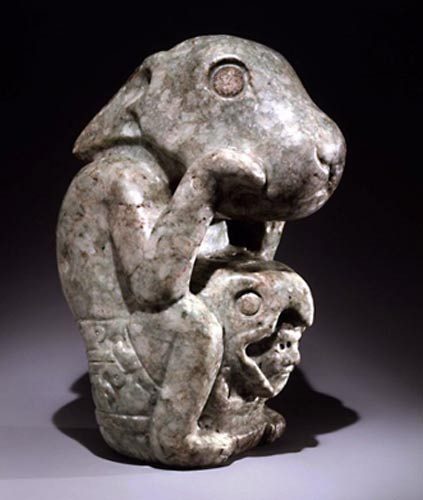 Pre-Columbian rabbit sculpture.