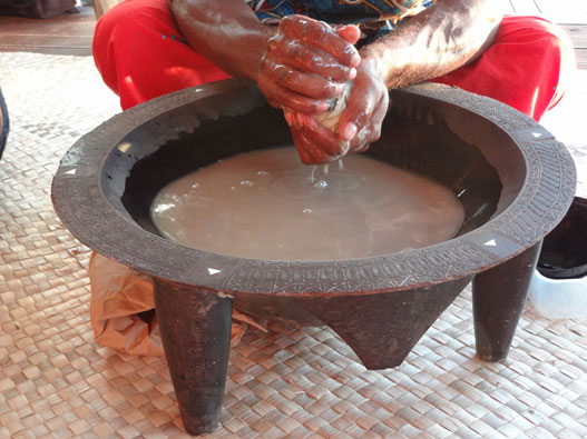 Preparation of the kava drink