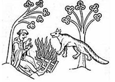 "Legend of Priest and Were-Wolves from Gerald de Barri's ""Topographia Hibernica"". 13th century."