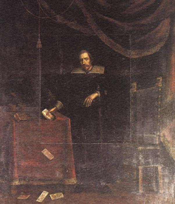 Prince Castracani Fibbia (1360-1419) with Tarot cards. (Public Domain)