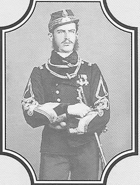 Prince Karl of Hohenzollern Sigmaringen later king Carol I of Romania. (circa 1860)