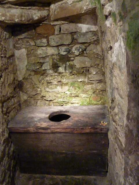 Privy in Ypres Tower, circa 1250.
