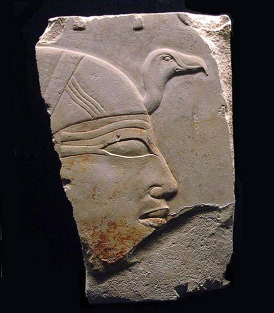 Profile of Ankhnespepy II from her funerary temple.