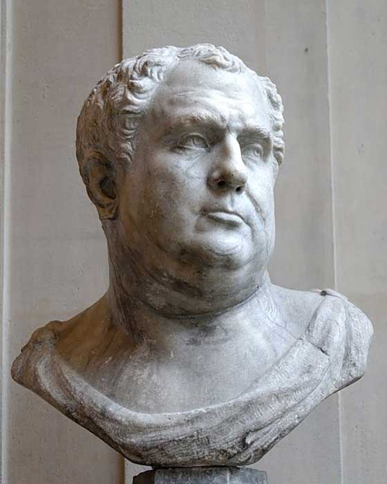 Pseudo-bust of the emperor Vitellius at the Louvre Museum.