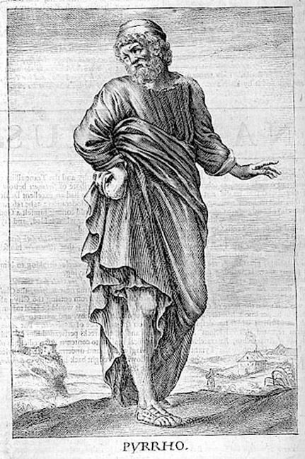 Pyrrho, ancient Greek philosopher. From Thomas Stanley, (1655)