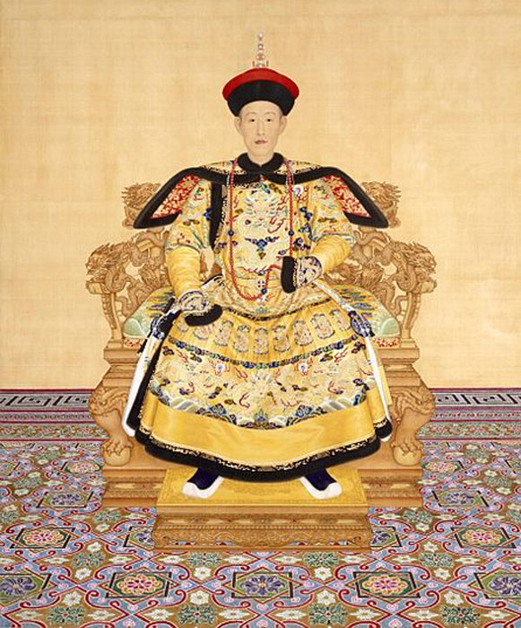 The Qianlong Emperor (1735-1796) in court dress.