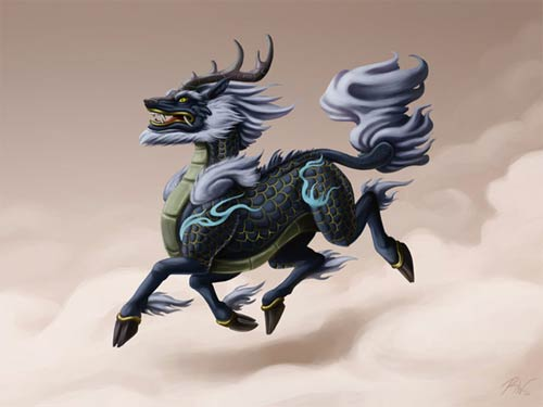the gentle and benevolent qilin of chinese mythology ancient origins