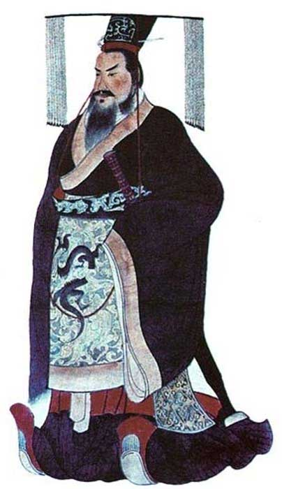 Qin Shi Huang, the first emperor of China.