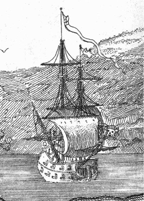 Illustration of Queen Anne's Revenge.