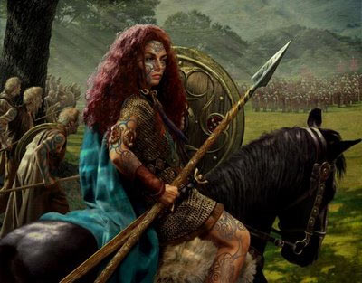 An artist's impression of Queen Boudicca