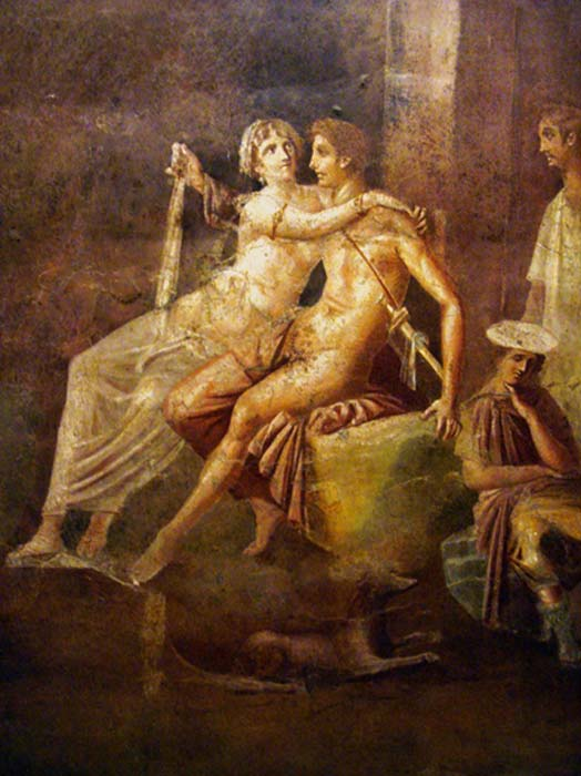 Queen Dido and Aeneas, ancient Roman fresco. (Tetraktys / Public Domain)