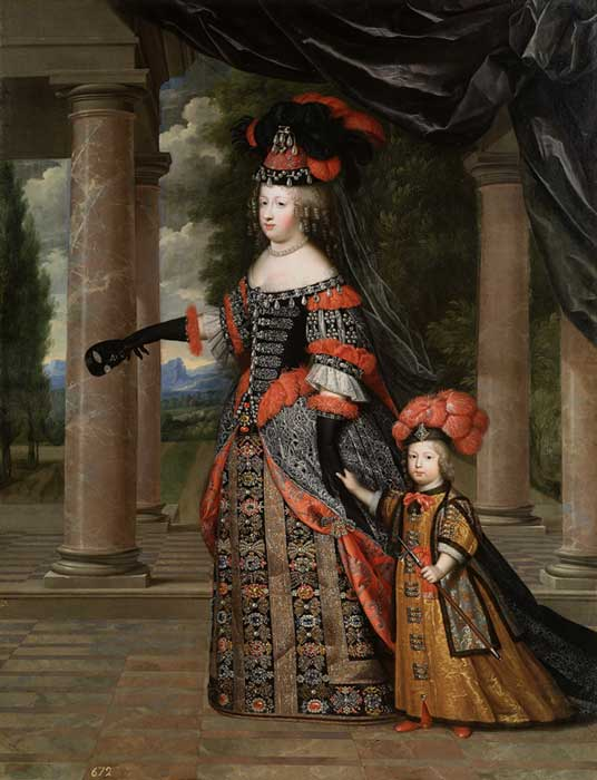 Queen Maria Theresa and her son the Dauphin of France. (museodelprado / Public Domain)