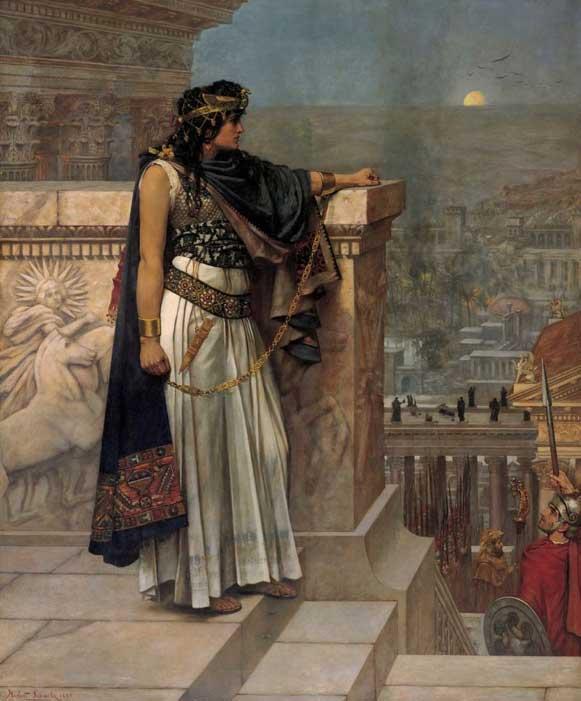 Queen Zenobia's Last Look upon Palmyra by Herbert Gustave Schmalz (1888) (Public Domain)