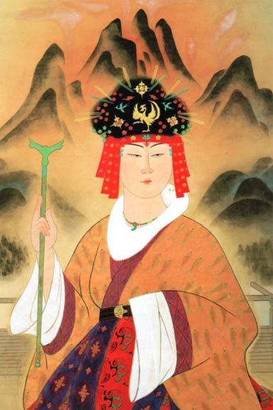 Queen of Yamataikoku, classical painting by Yasuda Yukihiko.