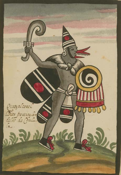 Quetzalcoatl as depicted in the post-Conquest Tovar Codex.