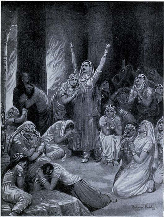 The Rajput ceremony of Jauhar.