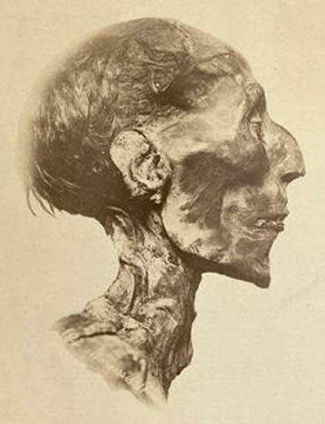 Ramses II, photographed in 1889.