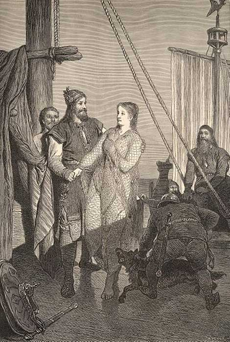 'Rayner Lothbroc and Kraka.' (Public Domain)