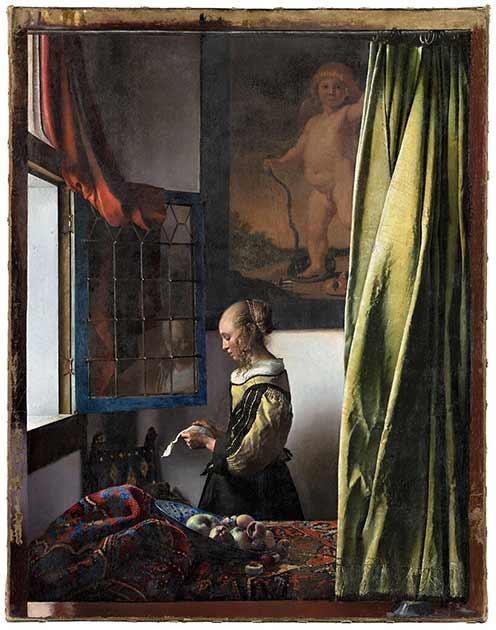Girl Reading a Letter at an Open Window (around 1657-59) after its restoration restoration © Gemäldegalerie Alte Meister, SKD, Photo: Wolfgang Kreische