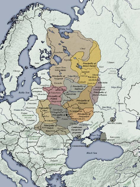 Realm of Kievan Rus' at its height. (Pofka / CC BY-SA 3.0)