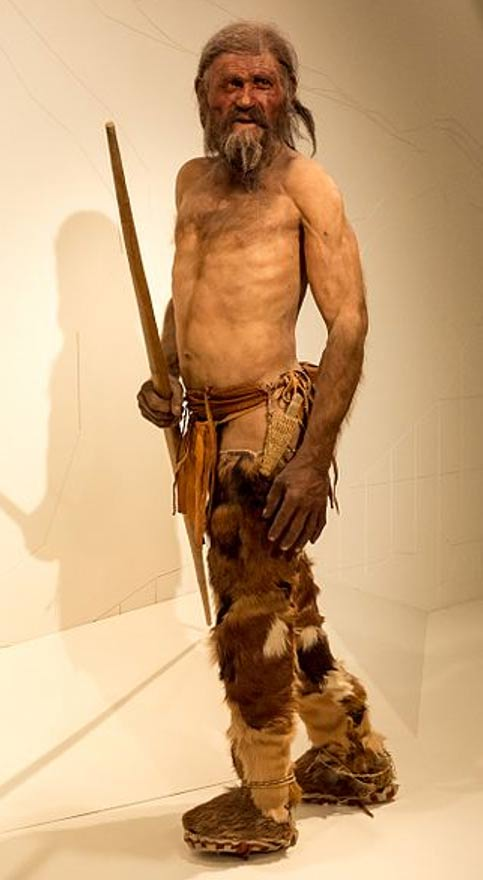 Reconstruction of Ötzi the Iceman by Alfons & Adrie Kennis