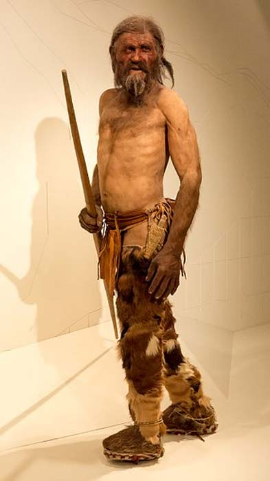 Reconstruction of Ötzi perhaps has him a bit on the lean side. (CC BY-SA 3.0)