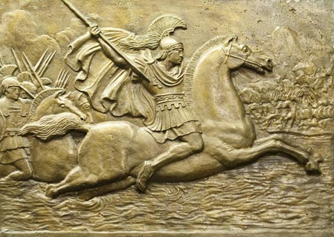 Relief depicting Alexander the Great