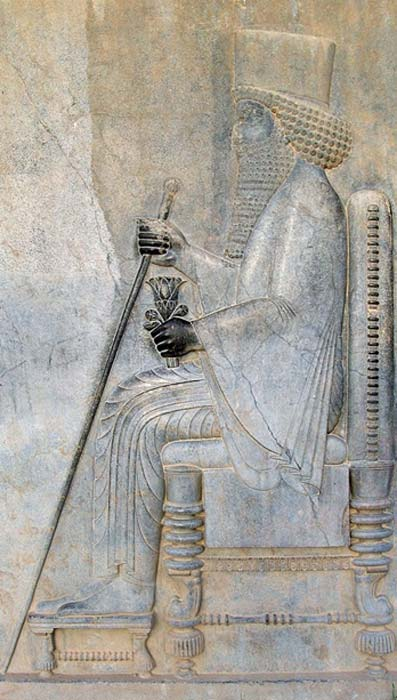 Relief of Darius in Persepolis.