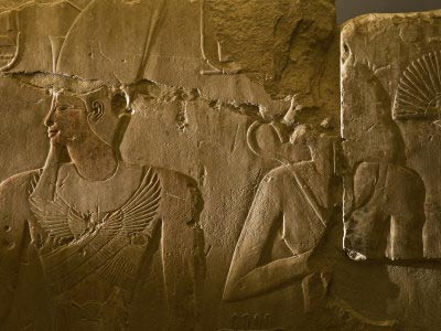 Relief of Hatshepsut and her husband, Thutmose II