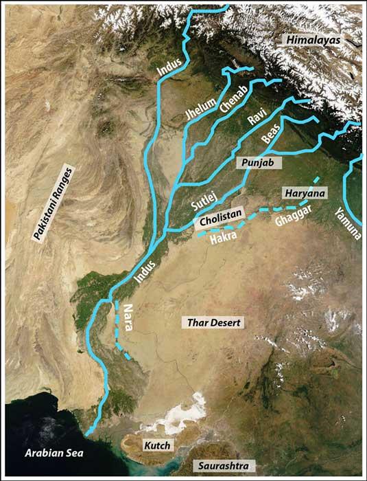 Remains of the Harappan settlements. (Liviu Giosan et al/ CC BY SA 4.0)
