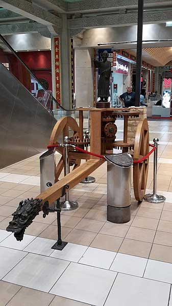 Replica of the South-pointing chariot in the China Court of the Ibn Battuta Mall, Dubai