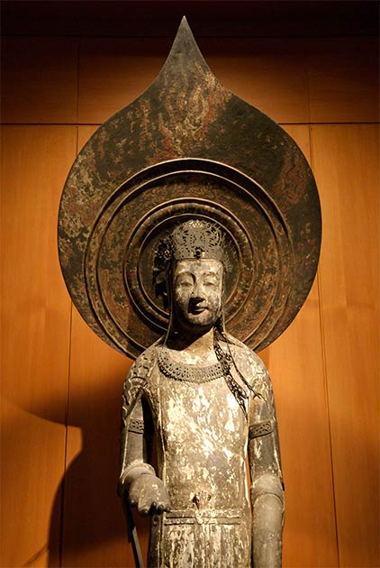 Replica of the Kudara Kannon statue at the British Museum. (CC BY 2.0)