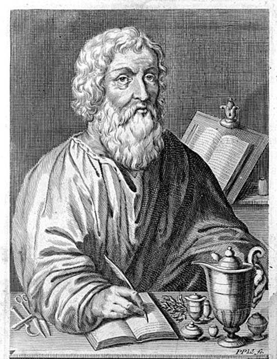Representation of Hippocrates from Linden, Magni Hippocratis...1665