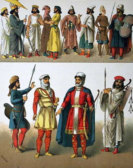 Representation of ancient Persian men. (Public Domain)