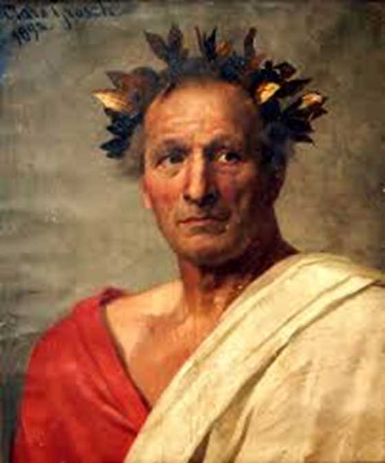 Representational painting of Julius Caesar.