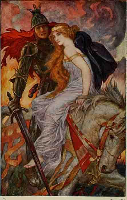 Lancelot rescatando a Ginebra. (Dominio público)