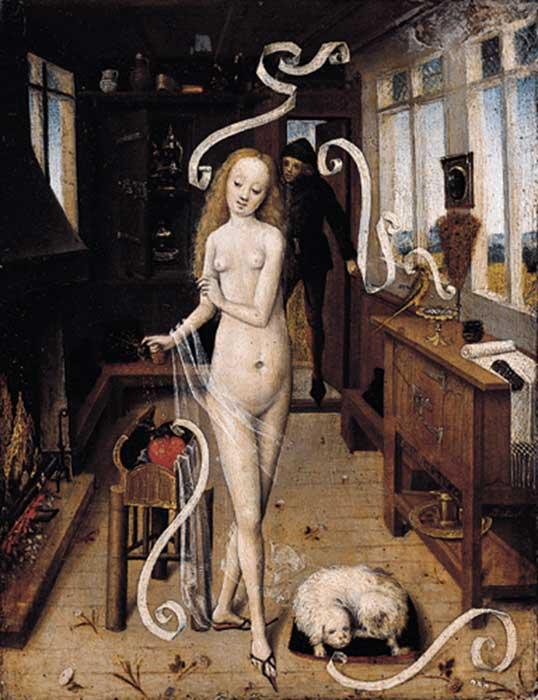 Figure 1. Rhineland Master. Love Magic, 1470s. Museum für bildende Künste, Leipzig.