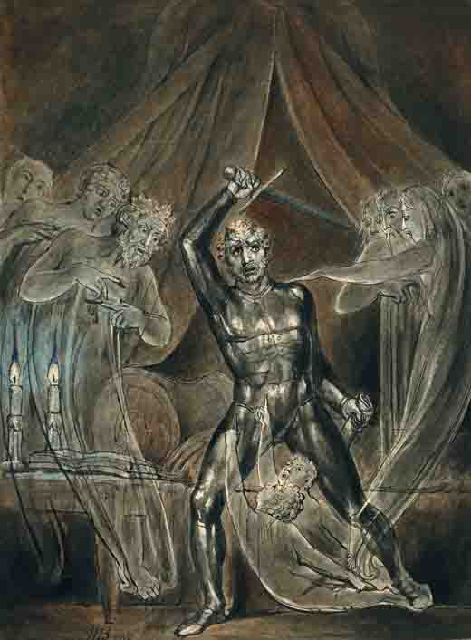 Richard III and the Ghosts by William Blake. (Public domain)