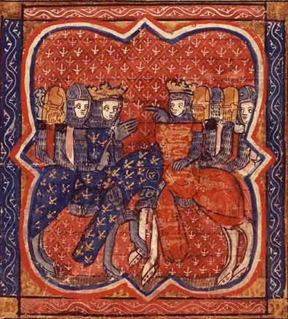 Richard and Philip of France, French manuscript of 1261.