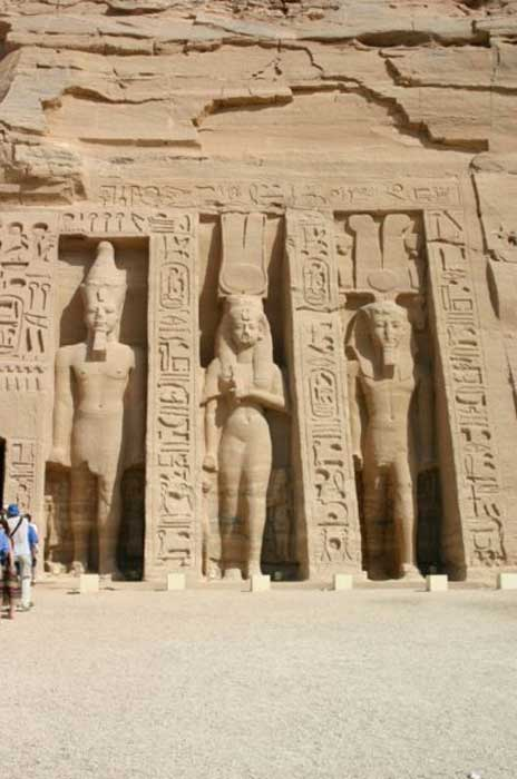 Right side of Nefertari's temple at Abu Simbel. (Steve F-E-Cameron/CC BY SA 3.0)