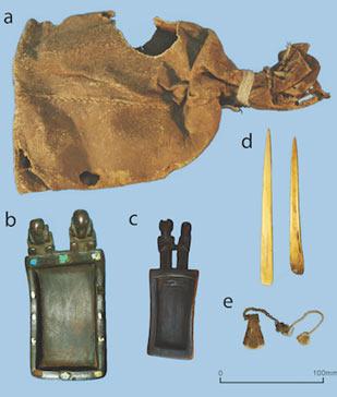 Ritual bundle recovered from Cueva del Chileno