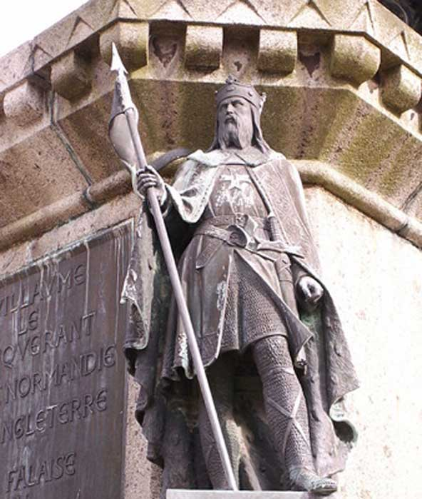 Robert the Magnificent as part of the Six Dukes of Normandy statue in the Falaise town square. (Michael Shea/CC BY SA 2.5)