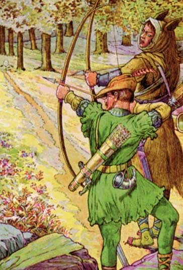 "Robin Hood with Sir Guy ""Bold Robin Hood and His Outlaw Band: Their Famous Exploits in Sherwood Forest"", Louis Rhead."