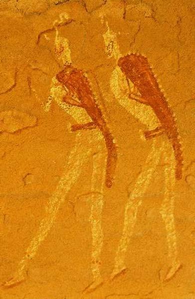 Rock art at Jabbaren.